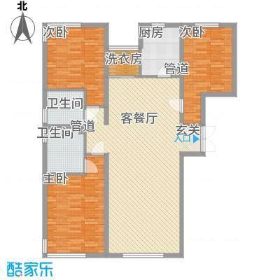 中央悦城户型图和悦C3户型 3室2厅2卫1厨