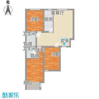 博爱雅苑118.02㎡D户型118.02平米户型3室2厅2卫