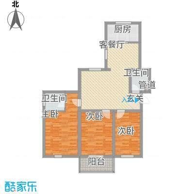 良东花园114.30㎡K户型3室2厅2卫1厨