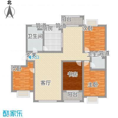 开元公寓198.50㎡开元公寓198.50㎡4室2厅2卫1厨户型4室2厅2卫1厨