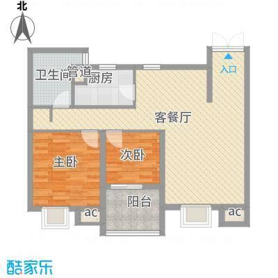 翠微品墅97.14㎡翠微品墅户型图B-2m2室2厅1卫户型2室2厅1卫
