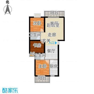 金龙花园二期121.60㎡金龙花园二期户型图3室2厅2卫2厨户型10室