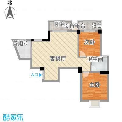 水木庭苑86.51㎡C户型2室2厅1卫
