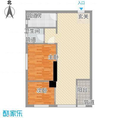海天广场81.44㎡海天广场户型图D户型2室2厅1卫1厨户型2室2厅1卫1厨