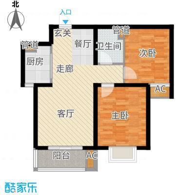 光华里92.00㎡光华里户型图4-B户型2室2厅1卫1厨户型2室2厅1卫1厨