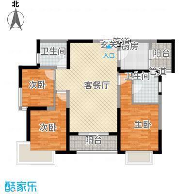 名门华都120.33㎡名门华都户型图9号楼c3户型3室2厅2卫1厨户型3室2厅2卫1厨