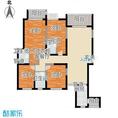 名门华都193.76㎡名门华都户型图名御平层户型4室5厅3卫1厨户型4室5厅3卫1厨