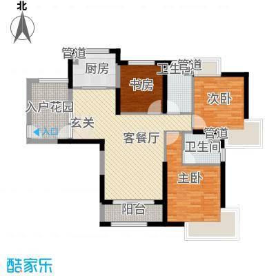 七里香苑云龙阁117.00㎡一期A1户型3室2厅1卫