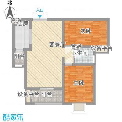 君廷上院88.94㎡君廷上院户型图B户型2室2厅1卫1厨户型2室2厅1卫1厨