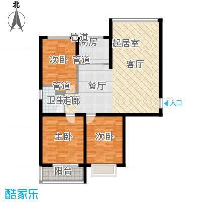 柠檬小镇105.00㎡柠檬小镇户型图E户型3室2厅1卫1厨户型3室2厅1卫1厨
