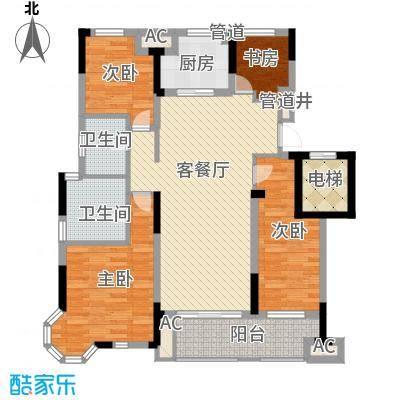 佳兆业玖珑山130.00㎡佳兆业玖珑山户型图3-130方户型6号楼(八角窗)3室2厅2卫1厨户型3室2厅2卫1厨