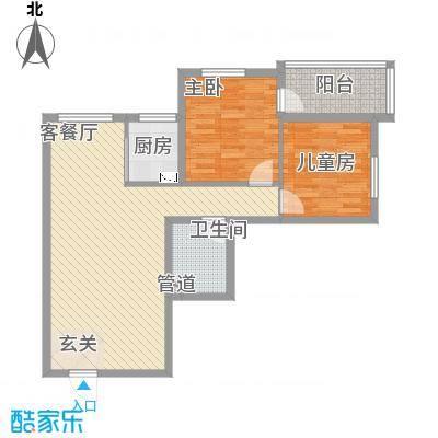 仁芳苑95.21㎡D反户型2室2厅