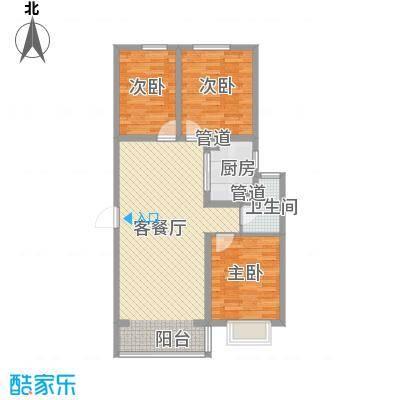 北辰商务花园107.71㎡多层B户型3室2厅1卫