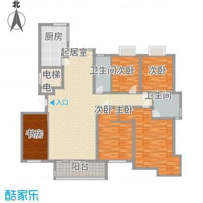 蓝地怡园245.00㎡蓝地怡园4室户型4室