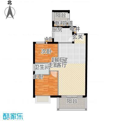 星河绿洲83.31㎡星河绿洲户型图C1栋04房2室2厅1卫1厨户型2室2厅1卫1厨