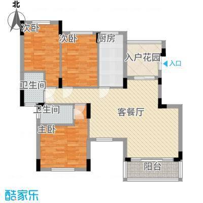 从化托斯卡纳124.01㎡从化托斯卡纳户型图3室2厅户型图3室2厅2卫1厨户型3室2厅2卫1厨