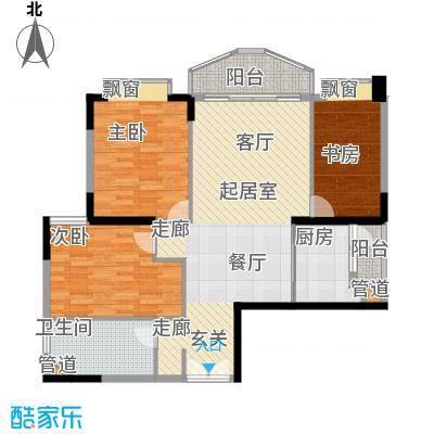 汇景新城明月清泉别墅 3室 户型图