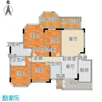 汇景新城明月清泉别墅 4室 户型图