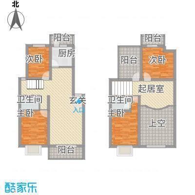 金龙花园二期174.40㎡金龙花园二期户型图4室3厅2卫1厨户型10室