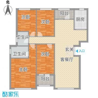 中盈北国绿城160.70㎡中盈北国绿城户型图D3户型4室2厅2卫户型4室2厅2卫