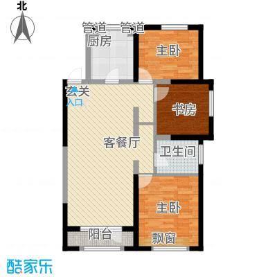 金地檀溪111.00㎡金地檀溪户型图高层1#-C3户型3室2厅1卫1厨户型3室2厅1卫1厨