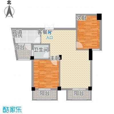 水木庭苑87.61㎡B3户型2室2厅1卫