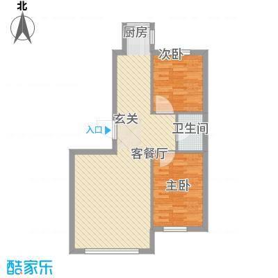 听涛雅苑86.66㎡听涛雅苑户型图户型图32室2厅1卫户型2室2厅1卫