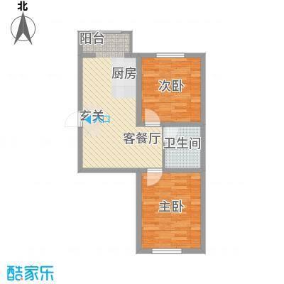 东正富贵雅居64.53㎡东正富贵雅居户型图C户型2室1厅1卫户型2室1厅1卫