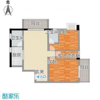 星汇峰户型图E座5栋02单元户型图 3室2厅2卫1厨