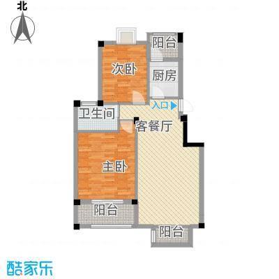 新澳蓝草坪85.00㎡新澳蓝草坪户型图一期C户型2室2厅1卫1厨户型2室2厅1卫1厨