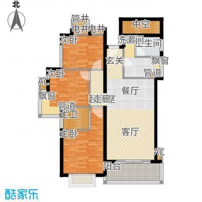 星河绿洲104.95㎡星河绿洲户型图3室2厅户型图3室2厅2卫1厨户型3室2厅2卫1厨