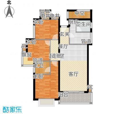 星河绿洲104.95㎡星河绿洲户型图D2栋03房3室2厅2卫1厨户型3室2厅2卫1厨