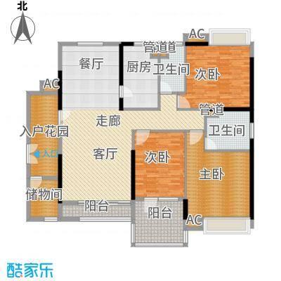 天寿大厦169.11㎡24-33层04单位户型3室2厅2卫1厨