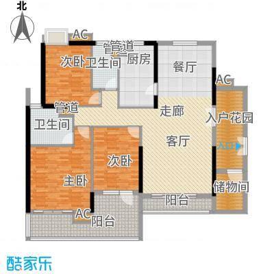 天寿大厦164.41㎡3-23层03单位户型3室2厅2卫1厨