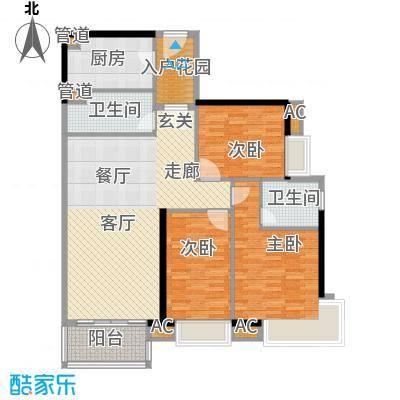 天寿大厦118.23㎡3-23层01单位户型3室2厅2卫1厨