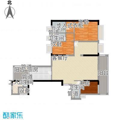 方圆月岛384.64㎡方圆月岛户型图A栋复式01单位(14-15层)首层平面图5室2厅6卫1厨户型5室2厅6卫1厨