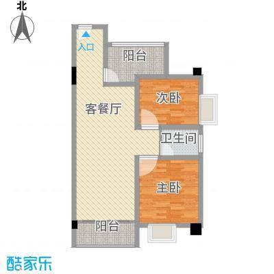 华丽楼2室1厅户型2室1厅1卫1厨