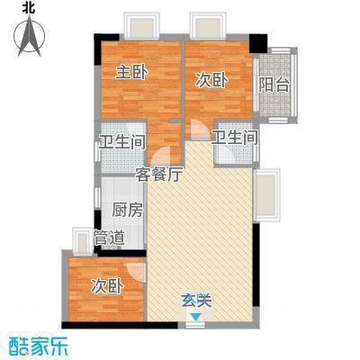 侨翠苑3室2厅户型3室2厅2卫1厨