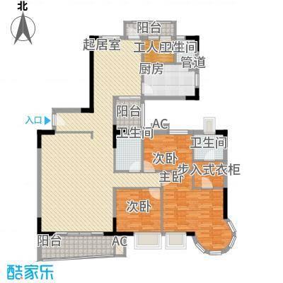 壹号公馆177.93㎡C栋01单元户型4室2厅3卫1厨