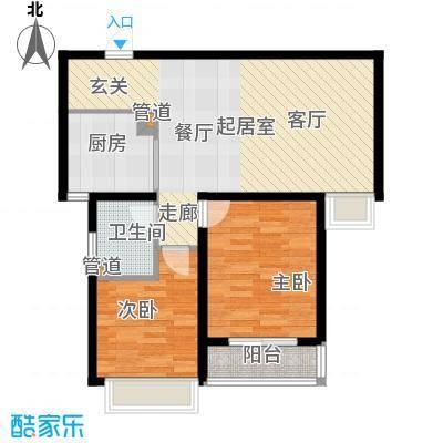 柠檬小镇73.80㎡柠檬小镇户型图B户型2室2厅1卫1厨户型2室2厅1卫1厨