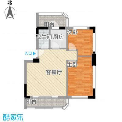 新城雅居2室1厅户型2室1厅1卫1厨