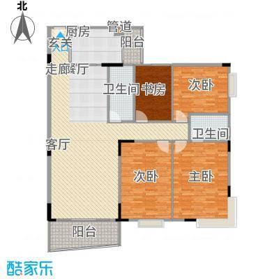 新燕花园三期147.61㎡4房2厅户型4室2厅2卫1厨
