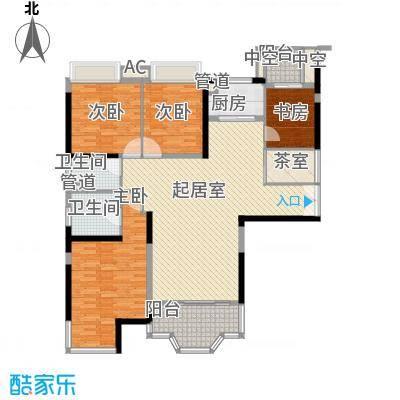骏景花园东御苑180.00㎡4室2厅户型4室2厅2卫1厨