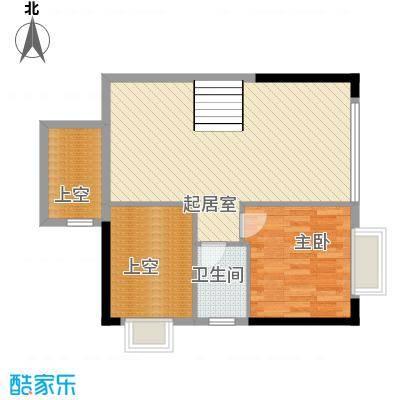 兰亭上东82.00㎡复式二层户型3室2厅2卫1厨