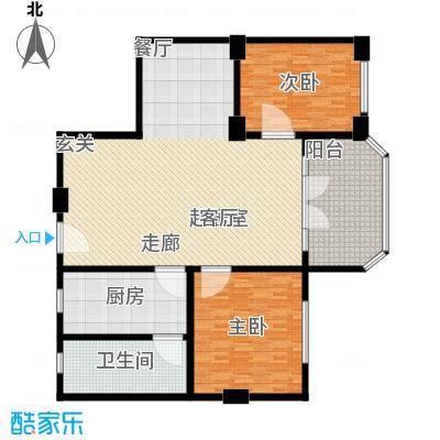 省府宿舍160.00㎡2室2厅户型2室2厅1卫1厨