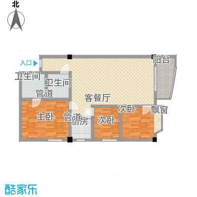 龙湾广场117.60㎡龙湾广场三室户型10室