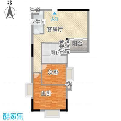 富邦名寓101.83㎡富邦名寓两室户型10室