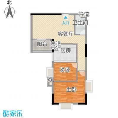 富邦名寓101.78㎡富邦名寓两室户型10室