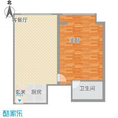 万菱君临国际公寓92.57㎡万菱君临国际公寓户型图15单元1室2厅1卫1厨户型1室2厅1卫1厨
