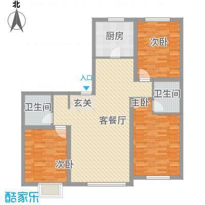 宝地城134.47㎡宝地城户型图F户型3室2厅2卫户型3室2厅2卫